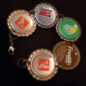 Vintage bottle cap bracelet